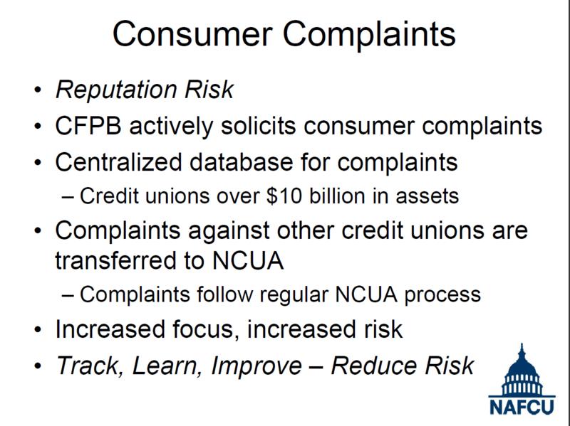 Consumer Complaints - NAFCU - Steve Van Beek - Annual Conference