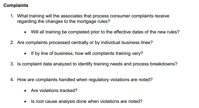 CFPB Readiness Guide - Complaints